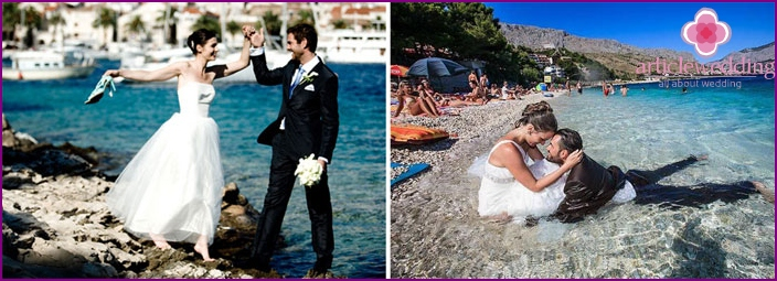 Wedding photo shoot in Croatia