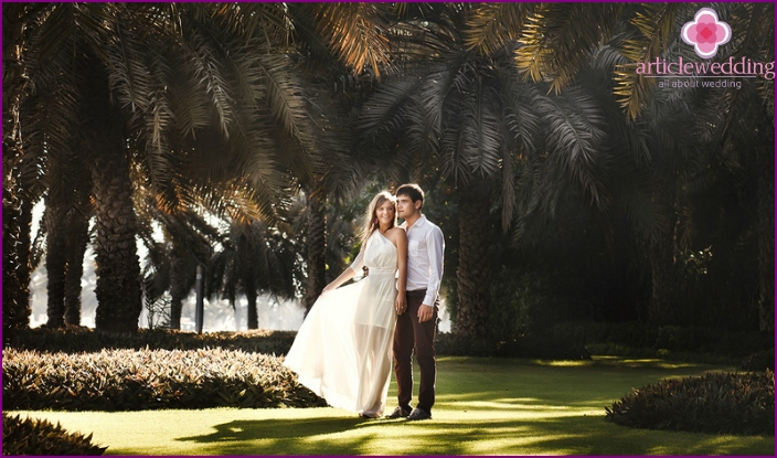 The picturesque nature of Dubai for a wedding