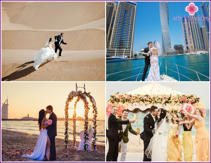 The choice of location for the wedding ceremony in Dubai