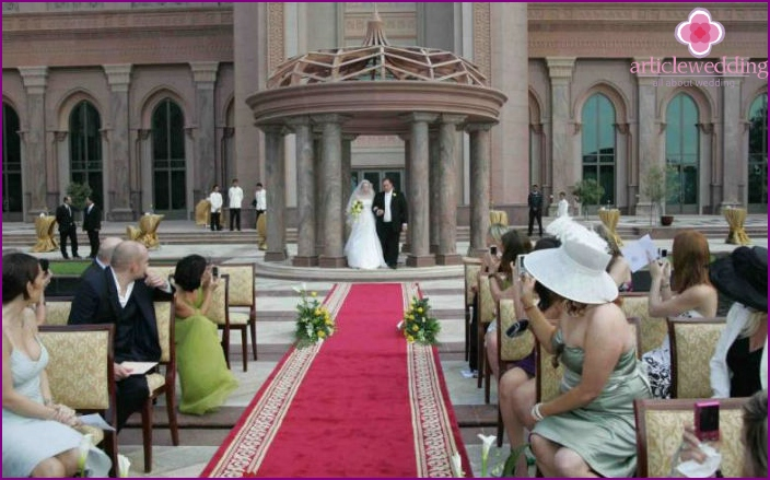 Luxury wedding in UAE