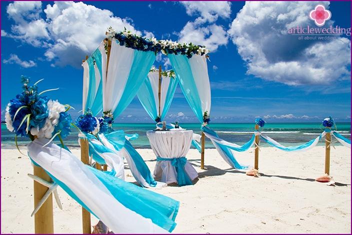 Venue of the wedding ceremony in Tahiti