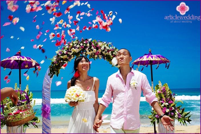Wedding on island