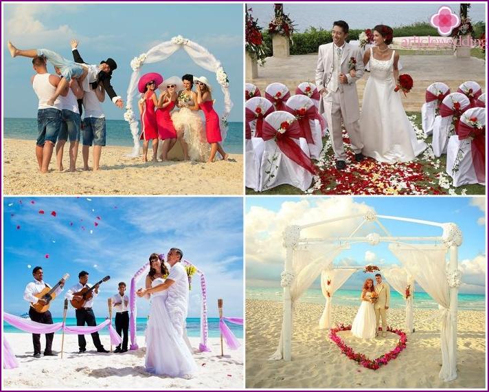 Photos of wedding ceremonies near the ocean