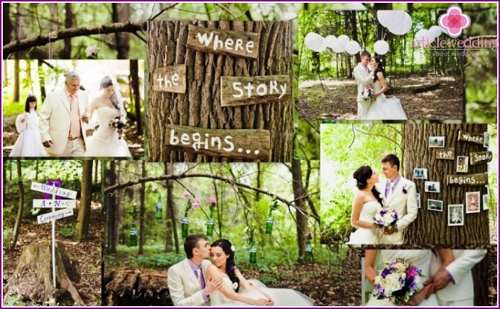 Romantic forest wedding