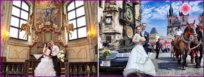 Fairytale wedding for two in Prague