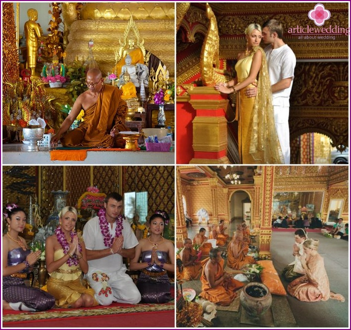 Marriage in the temple in Phuket