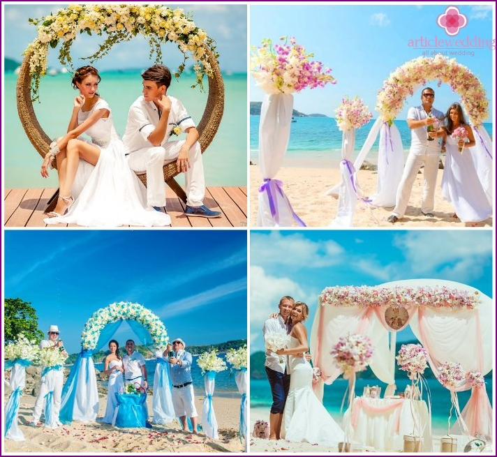 Wedding at the sea in Phuket