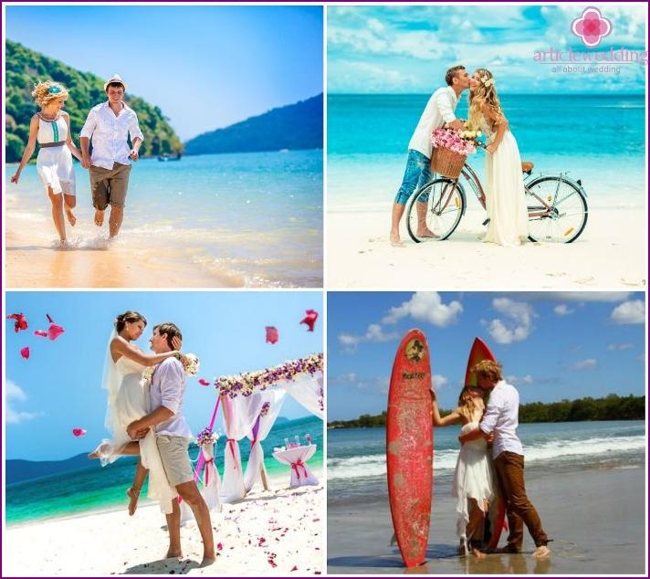 Wedding on a desert island near Phuket