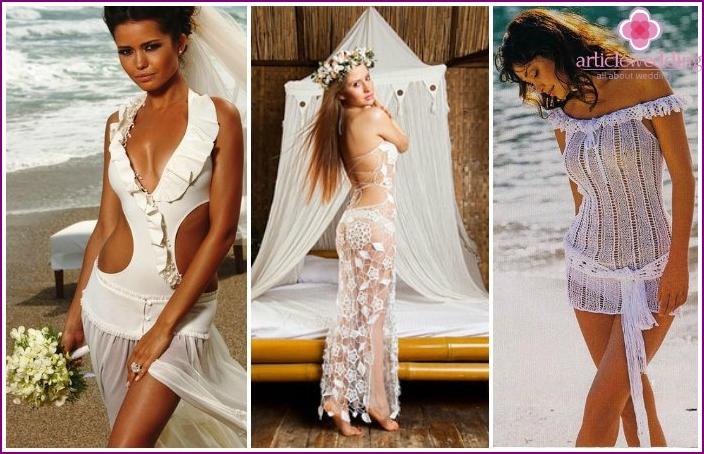 Option beach wedding dress