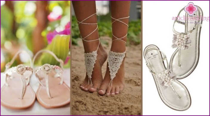 Shoes for weddings on the beach