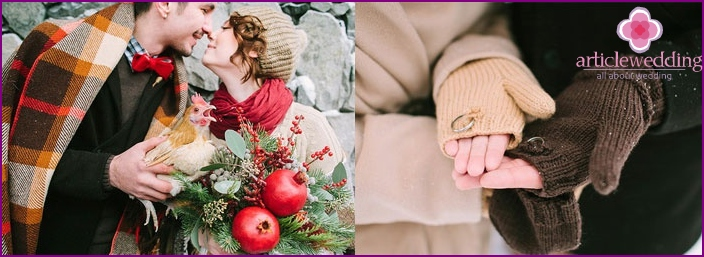 How to organize a winter wedding photo shoot