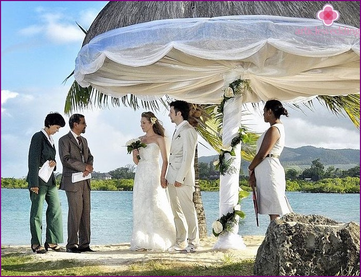 Praslin: official wedding