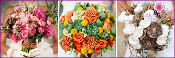 Bouquet for wedding dress style
