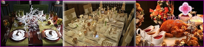 Options Serving wedding table for Christmas