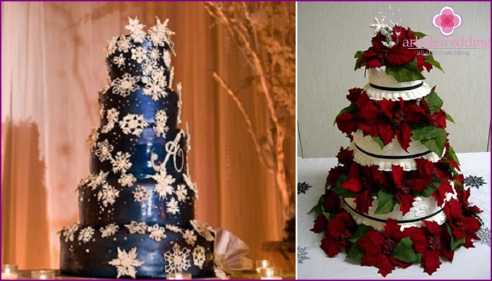 Wedding cake for Christmas