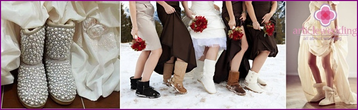 Uggs - great shoes for a winter wedding
