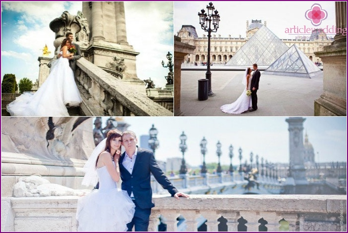 Paris: beautiful wedding photo shoot