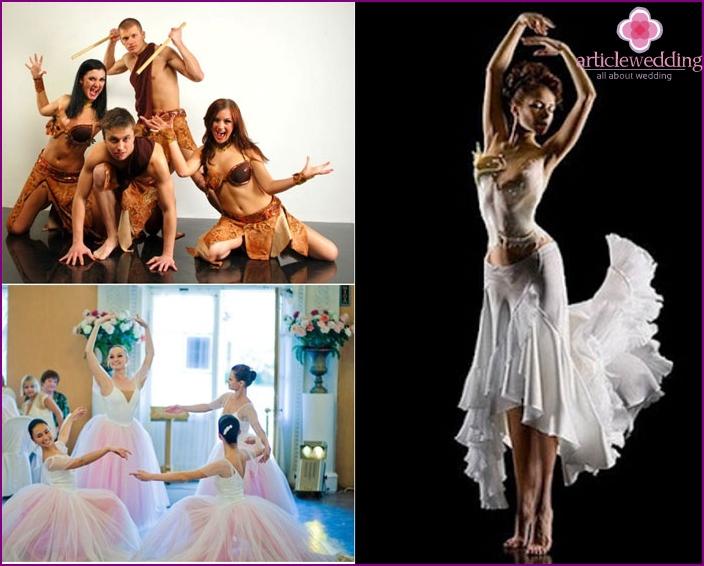 Show program of ballet dancers at the wedding