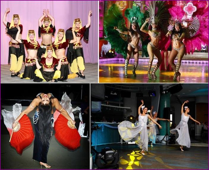 Dance groups in the wedding show program
