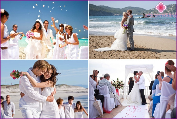 Wedding on the island of Ibiza