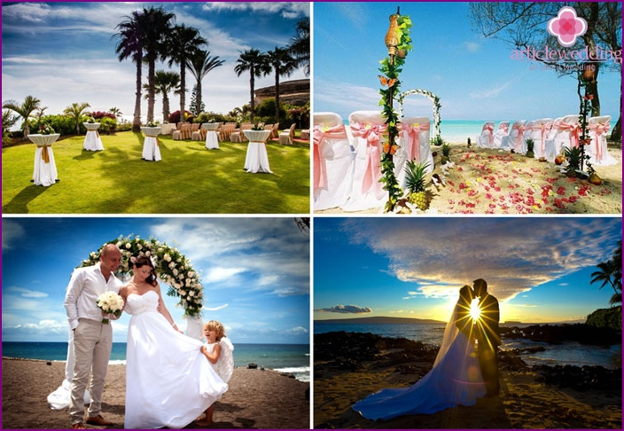 Wedding on the island of Tenerife