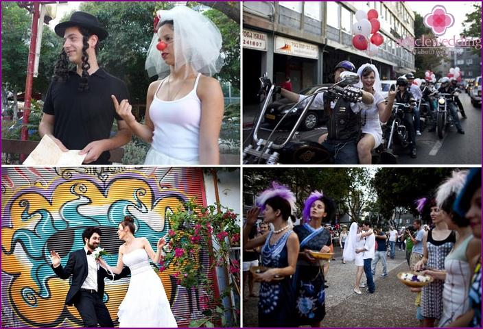 The wedding on the shores of Tel Aviv