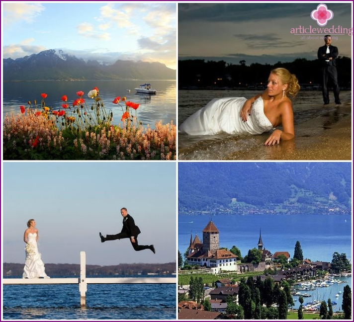 Wedding with views of Lake Geneva