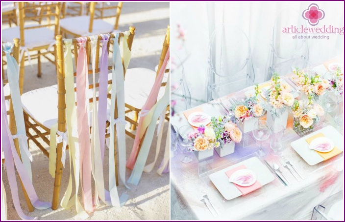 Pastel shades wedding