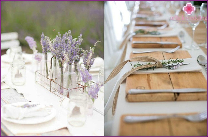 Common elements of the wedding decor