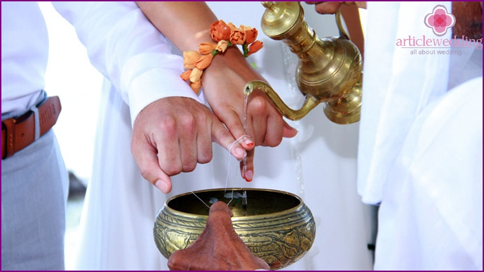 Wedding ceremony in the Sri Lankan traditions