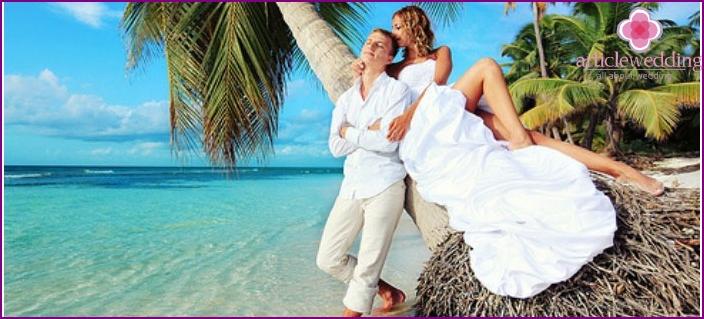 Wedding on a desert island