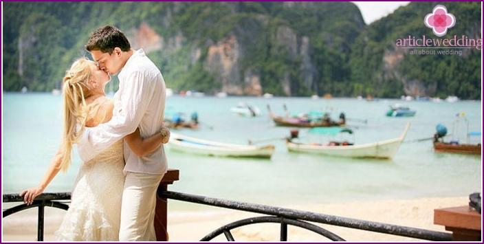 Wedding in a villa in Thailand