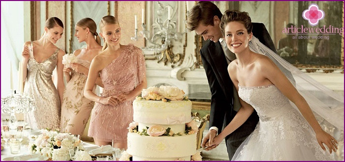 European wedding - the rejection of the leading