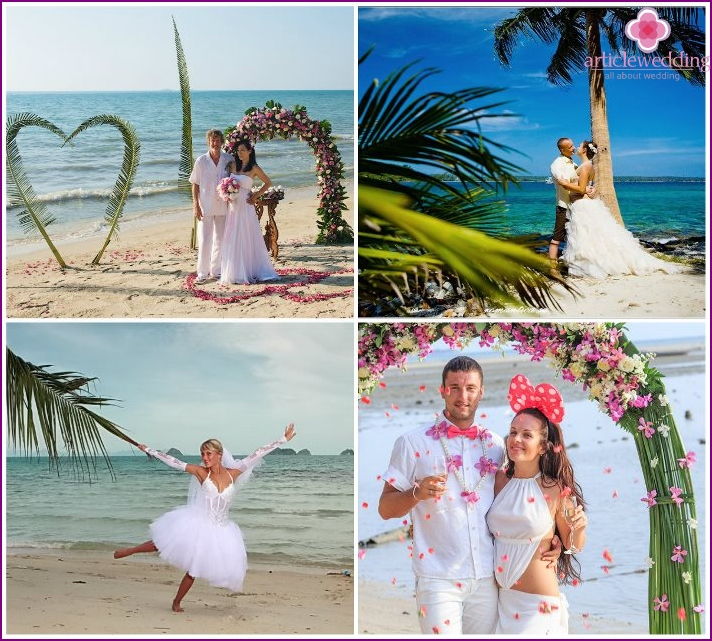 Wedding ceremony on the Thai island of Koh Samui