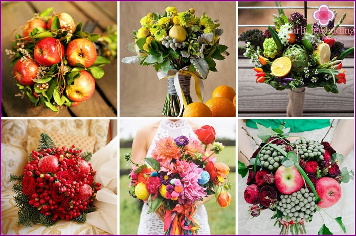Fruity bouquet bride