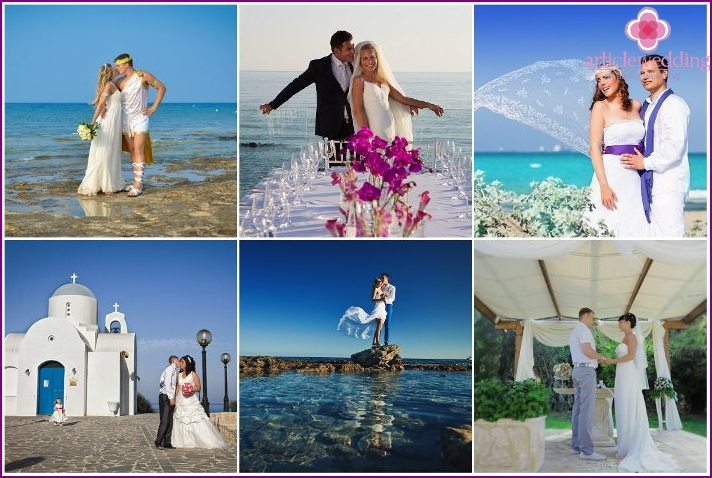 Wedding ceremony in the resort of Protaras