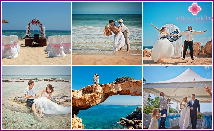 The wedding ceremony in Ayia Napa