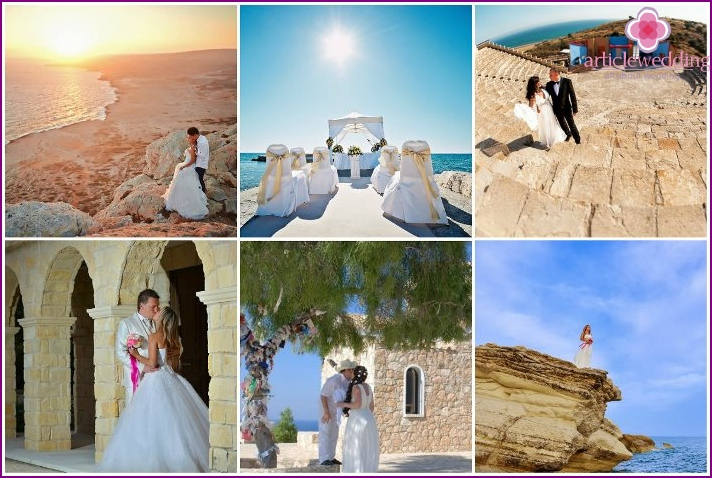Wedding ceremony on the nature of Limassol