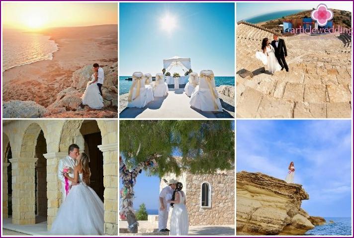 Wedding ceremony on the nature of Limassol