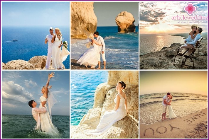 Wedding photo shoot on the island of Cyprus