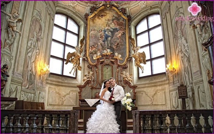 Wedding ceremony in the castle Libensky