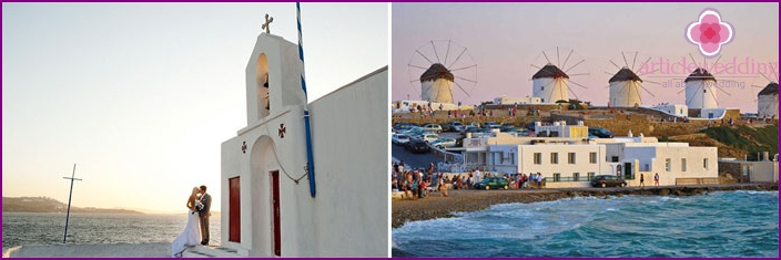 Mykonos Island for the wedding