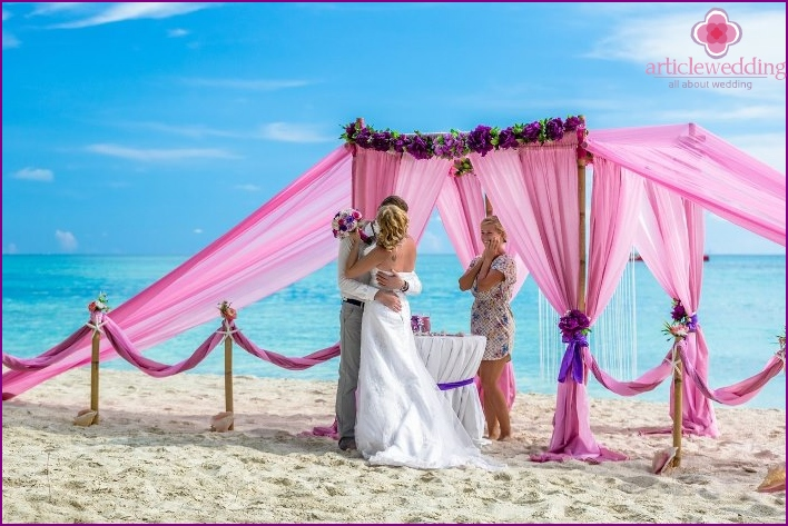 Wedding ceremony on the beach of Cap Cana