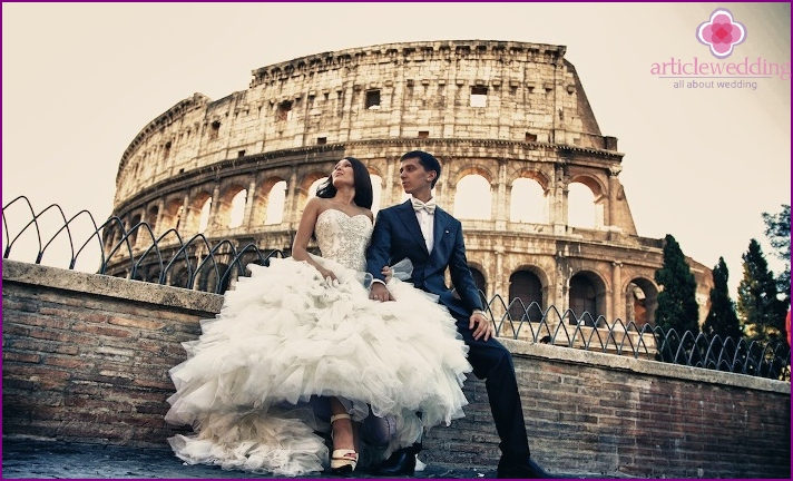 Romantic destinations for weddings in Rome