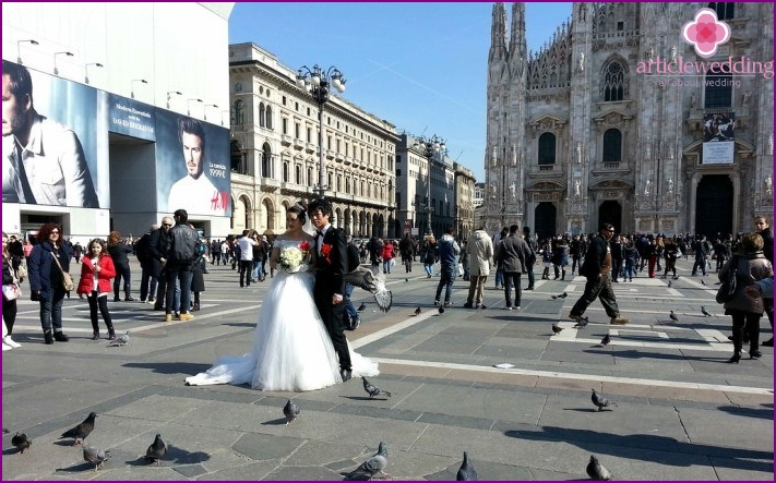 Wedding and Wedding in Milan