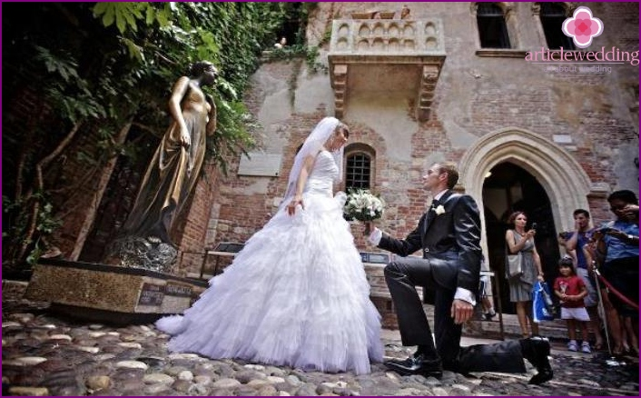 Wedding in Verona guarantee eternal love newlyweds