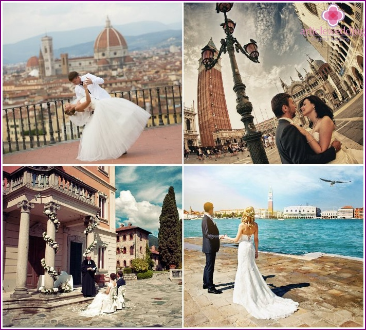 Italy for the wedding photo shoot