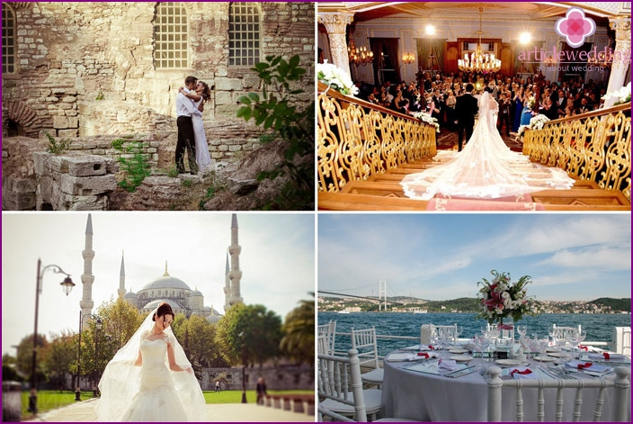 The wedding ceremony in Istanbul