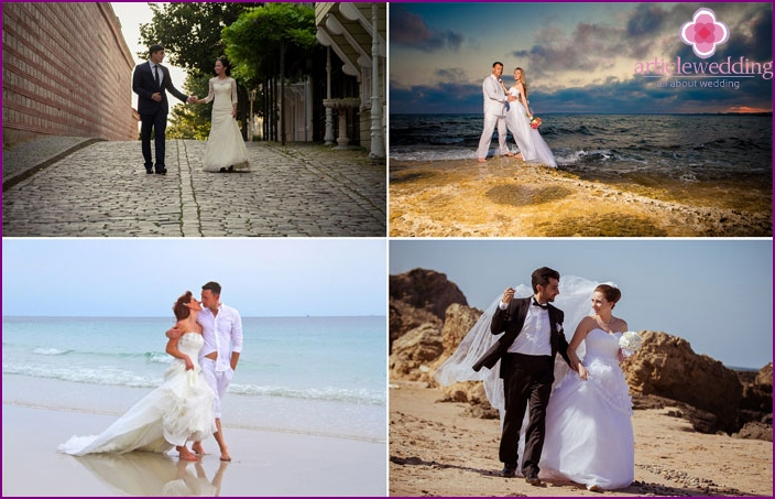 Ideas for the wedding photo shoot in Turkey