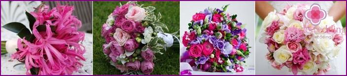 Bouquets of crimson wedding